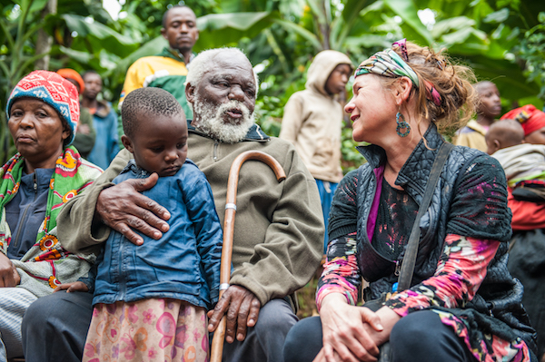 Photo of Dr. Johnson (right) in Tanzania by Cady Herring.